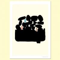 【摩達客】西班牙知名插畫家Judy Kaufmann藝術創作海報掛畫裝飾畫-與朋友渡假 (附Judy簽名)(含木框)