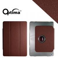 (Optima)Optima iPad Air Smart 360 flax grain protective sleeve - dark brown
