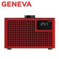 (geneva)Geneva Acustica/Lounge Radio Alarm Clock Radio Bluetooth Speaker (Red)