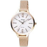 (Hanna)Hanna Audrey Hepburn IP Gold Milan Women's Watch with Quartz (White Lovers) 6991L-2035-2 (two-year warranty)