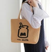 (LaVie)[Pin Le. LaVie】Korean style simple shoulder carry canvas bag (milk bottle)