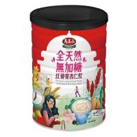 《馬玉山》全天然無加糖紅藜麥杏仁飲400g(鐵罐)-新品上市