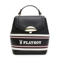 (playboy)PLAYBOY- Small Backpack Backpack Shoulder Aesthetic Series-Black