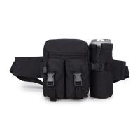 (J.SH)J.SH Multifunctional Army Fan Water Pouch Outdoor Travel Lightweight Pouch Specifications: Black