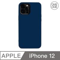 CARECASE iPhone 12 手機保護殼 午夜藍磨砂款 石墨色鏡頭框
