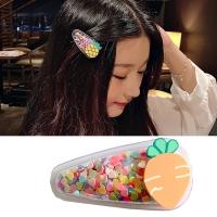 (charme)Charme Korean popular baby favorite shiny quicksand hairpin-carrot