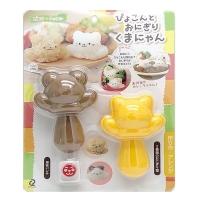 (ARNEST)Japan ARNEST animal shape rice ball stamper with punch (0765)