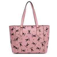 (playboy)PLAYBOY- Tote Bag Refresh Vibrant Rabbit Series-Pink
