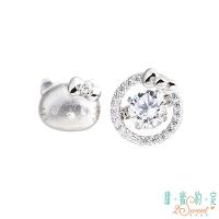 (HelloKitty)Sweet appointment HelloKitty love ‧ perfect Kitty sterling silver earrings
