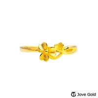 (Jove Gold)Jove Gold Love Flower Gold Ring