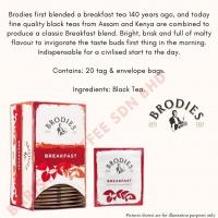 Brodies Tea, Scottish Breakfast Tea 20-Count Tea Bag