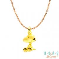 (snoopy)Sweet Arrangement 2SWEET Love Hug Snoopy Gold Pendant Send Necklace