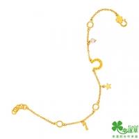 (幸運草)Lucky Grass Horseshoe Lucky Star Gold Bracelet