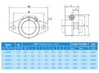 Aluminium Alloy Linear Rail Shaft Guide Support Bracket SHF8/10/12/16mm For 3D Printer Bearing CNC Step Motor