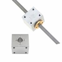 Nut Housing Bracket For 8mm T8 Trapezoidal Lead Screw Nut converter Nut Seat Mounting Bracket Aluminum Block
