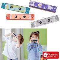 "(classicworld)[German classic world Kelaixi Classic Wooden Play] Children's wooden cartoon harmonica ""40539"" is shipped in random colors"