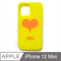 (candies)【Candies】Love Follow Phone Case (Yellow)-iPhone 12 mini