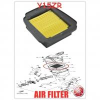 100% ORIGINAL HONG LEONG YAMAHA Y15ZR,Y15Z,Y15,LC150(V1,V2) AIR CLEANER FILTER HLY 【2PV-E4450-00】