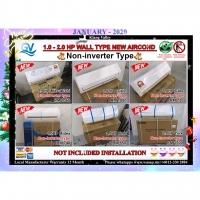 1HP-2HP Wall Type New Aircond (Non-Inverter Type)/Mitsubishi/Daikin/Gree/Midea/York/Happy New Year