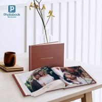 DIY A4 Landscape Deluxe Hardcover Wedding Guest Book with Hot Stamping - E Voucher [e-Voucher] Photobook