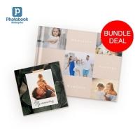 "(Bundle) Buy 1 Free 1 11"" x 8.5"" Imagewrap Hardcover Photobook 40 pgs + Free 6"" x 6"" Softcover Photobook 40 pgs"