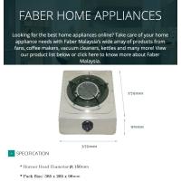 Faber Single Infrared Burner Gas Stove Gas Cooker FS CASA S1500