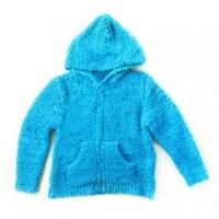 [TAITRA] 【EUPHORIA】Soft & Comfort Hooded Coat - Turquoise