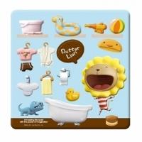 (雄獅)Butter Lion magnet arrangement (Bath group)