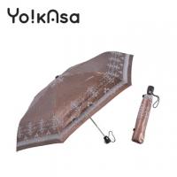 [Yo!kAsa] Elegant Baroque Automatic Opening and Folding Umbrella-Brown
