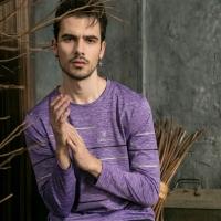 (Valentino Rudy)Valentino Rudy Fan Lun. Ludi Sunscreen Breathable Long Sleeve T-Shirt - Lavender Purple