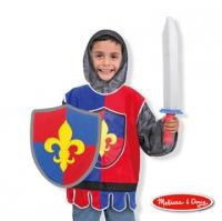 American Marisa Melissa & Doug knight costume dress up game set