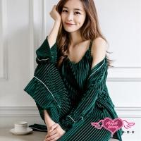 (AngelHoney)Home Pajamas Free Three-piece Blouse Casual Pajamas Group (Green F) AngelHoney Angels