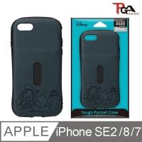 (pga-ijacket)[Japan PGA] iPhone SE2/8/7/6S 4.7-inch Disney Military-Regulated Leather Card Dual Shell-Donald Duck