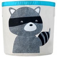 (佶之屋)Ji [House] cute cartoon baby cotton oversized storage casks - Raccoon