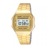 (CASIO)CASIO digital watch city time - gold