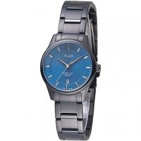 (ALBA)ALBA love Paris Seine fashion watch - Dodge Blue / All IP Black (AH7M17X1)