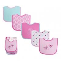 (luvable friends)US luvable friends infant bibs (LF bottom waterproof) Bibs into 5 groups _ pink butterfly (LF02331)