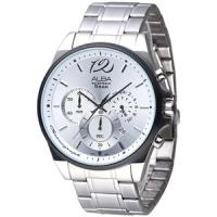 (ALBA)ALBA Speed ??Flicker Three Hours Jaimei Men Watch (AT3A47X1) - Silver White