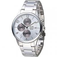 (ALBA)ALBA fashion master three chronograph men's watch - Bead + black ash (AM3287X1)