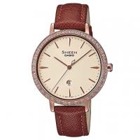(casio)[CASIO] SHEEN Luxury Sapphire Mirror Fashion Belt Watch-Brown x Beige (SHE-4535YGL-9A)