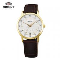 (ORIENT)ORIENT Orient Watch SLIM series of elegant sapphire crystal digital quartz watch female belt section FUNG6003W gold - 31mm