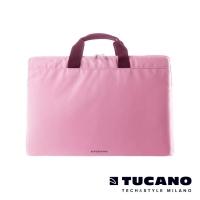 (tucano)TUCANO MINILUX Minimalist Lightweight Nylon Hand Bag 13-14 inch (back side) - Pink