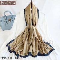 (Osun)【Osun】Natural cotton and linen printing autumn and winter warm scarf shawl silk scarf (style: 03, CE373)