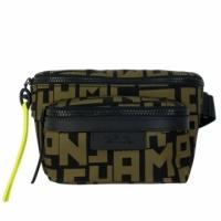 (longchamp)LONGCHAMP LE PLIAGE LGP series nylon belt bag (small / black X khaki green)