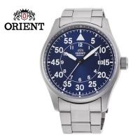 (ORIENT)ORIENT Oriental watch WATER RESISTANT 100m series flying mechanical watch steel belt blue RA-AC0H01L