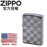 (zippo)ZIPPO Check board BNS Checkerboard (Black Silver) Windproof Lighter