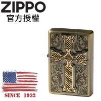 (zippo)ZIPPO CREDOS EMBLEM BR Faith Cross (antique brass) windproof lighter