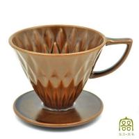 (客噐。客氣)Kep. Polite cut filter cup 02 _ winter evening black