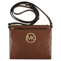 (Michael Kors)Empire Michael Kors classic LOGO embossed three messenger bag (coffee brown)