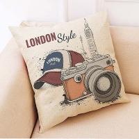 Creative camera pattern hug pillowcase (color hat and camera)